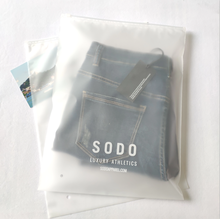 LDPE Clear/Transparent Custom PE Plastic Zipper Bag AND T-shirt slider ziplock bags with your logo