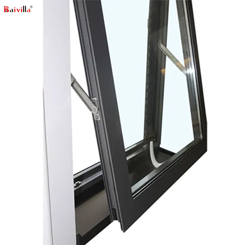 OEM cheap small size aluminum awning window for hotel in vietnam