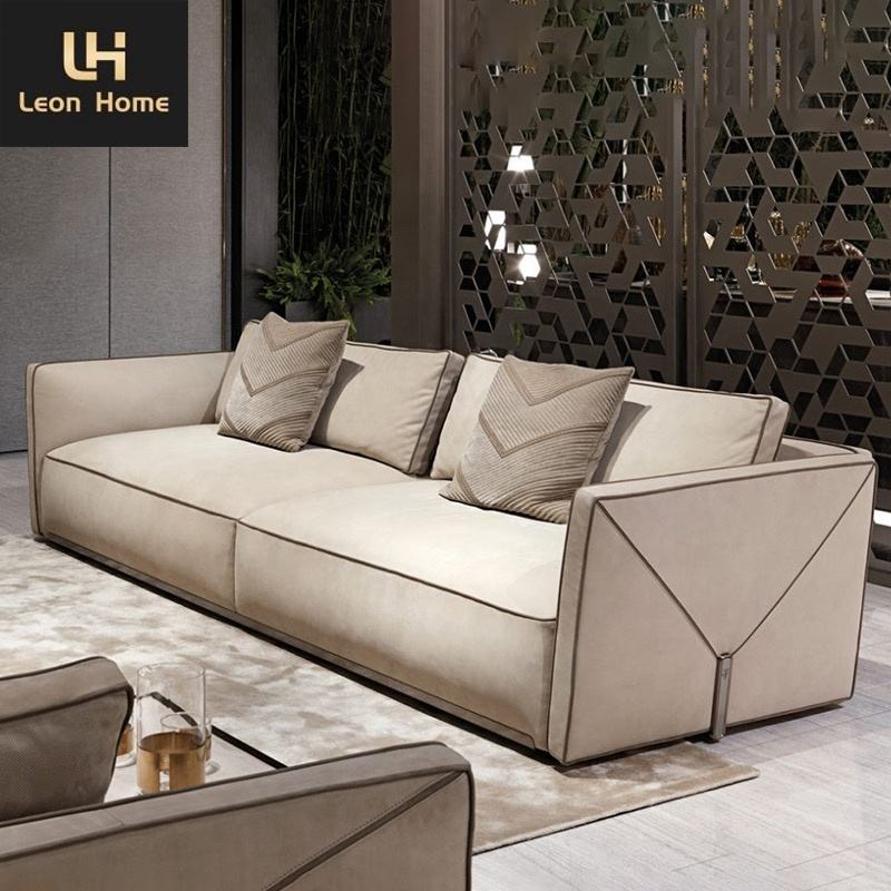 Latest designs high end modern style sectional couches velvet l shape 7 seater luxury furniture couch living room sofa