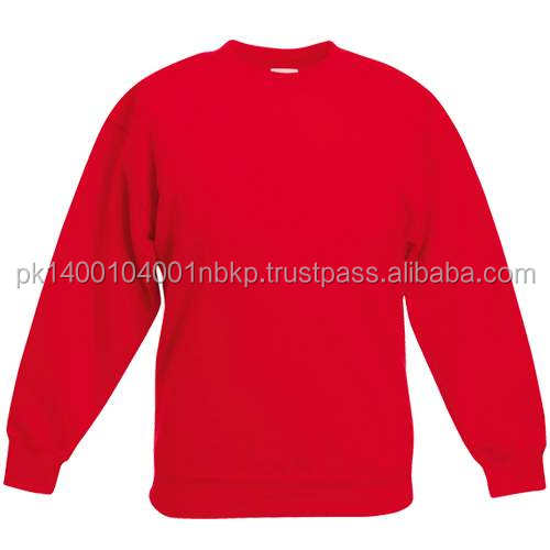 top quality red color sweatshirt men