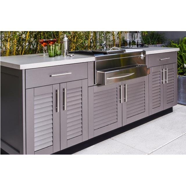 stainless steel durable use outdoor kitchen cabinet