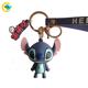 Rubber Toy Keychain Hot Sale 3 Dimensional Animal Key Chain Lilo Stitch Toy Pvc Rubber Keychain
