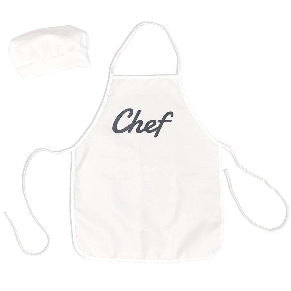 New Manufacturer Customized Print White Cotton Apron Cooking Apron For Kids