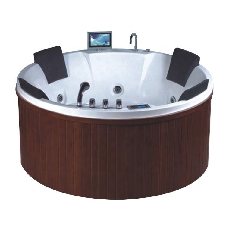 gecko chinese 4 seats round plug n play lazy hydro spa hot tub