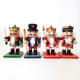 Wholesale Christmas decorations 16cm wooden set of four painted table decorations nutcracke