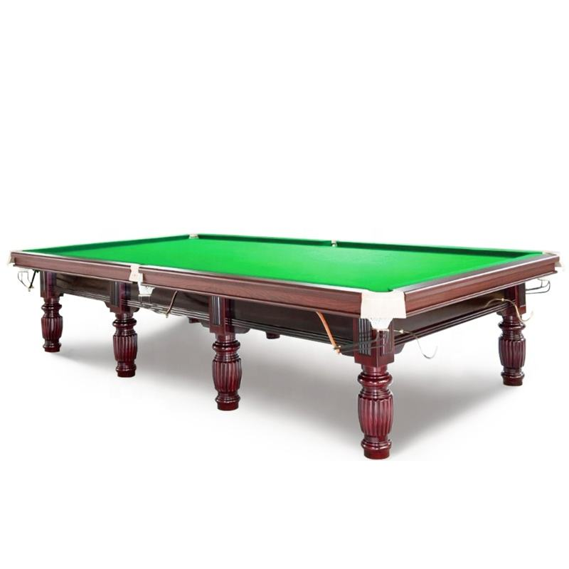 China cheap price games play with steel cushion and heated mat snooker pool table 12ft