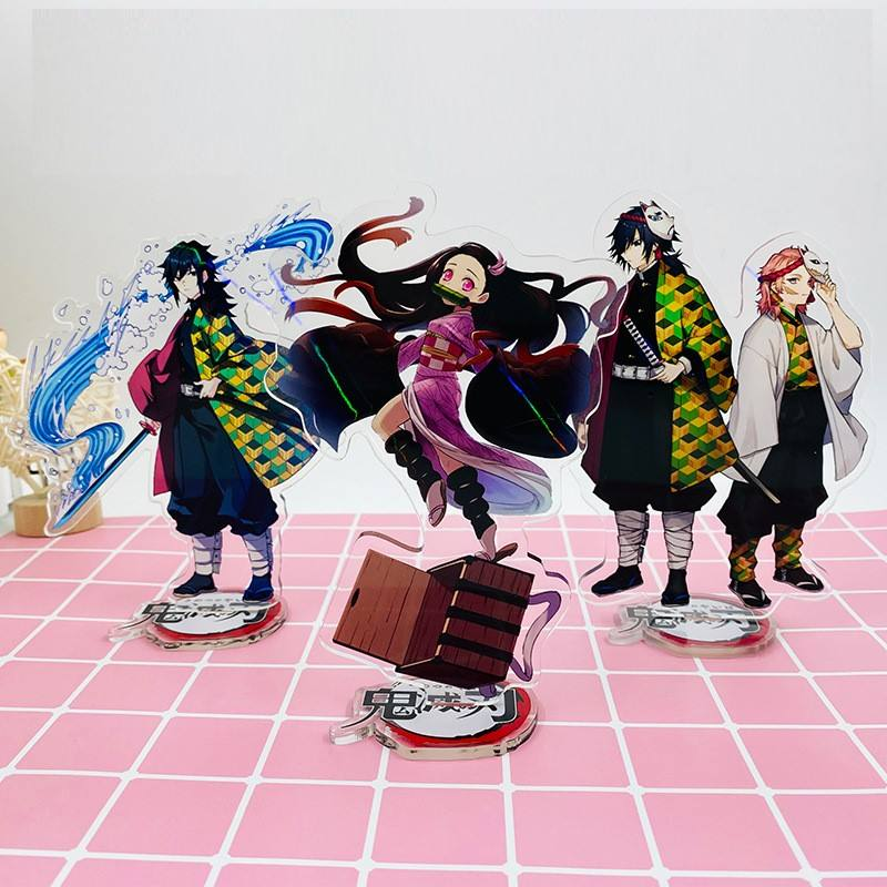 Comic Demon Slayer Kimetsu No Yaiba Decoration Acrylic Licensing Keychain