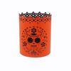 Custom Design European Hollow Pattern Metal Round Halloween Candle Holder With Customize Logo