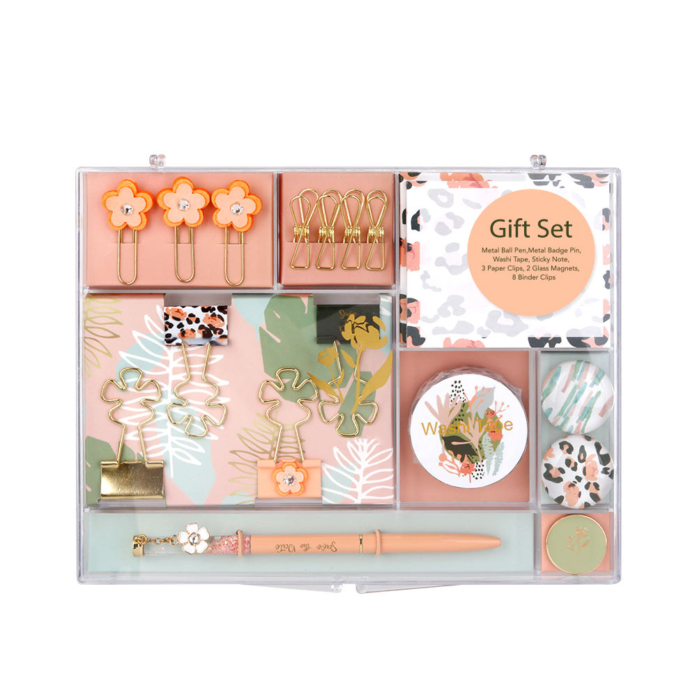 Office school leopard series stationery gift box set
