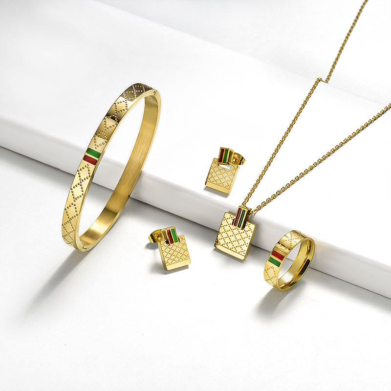 BAOYAN Gold Silver Plated Famous Brand Jewelry Sets Stainless Steel Jewelry