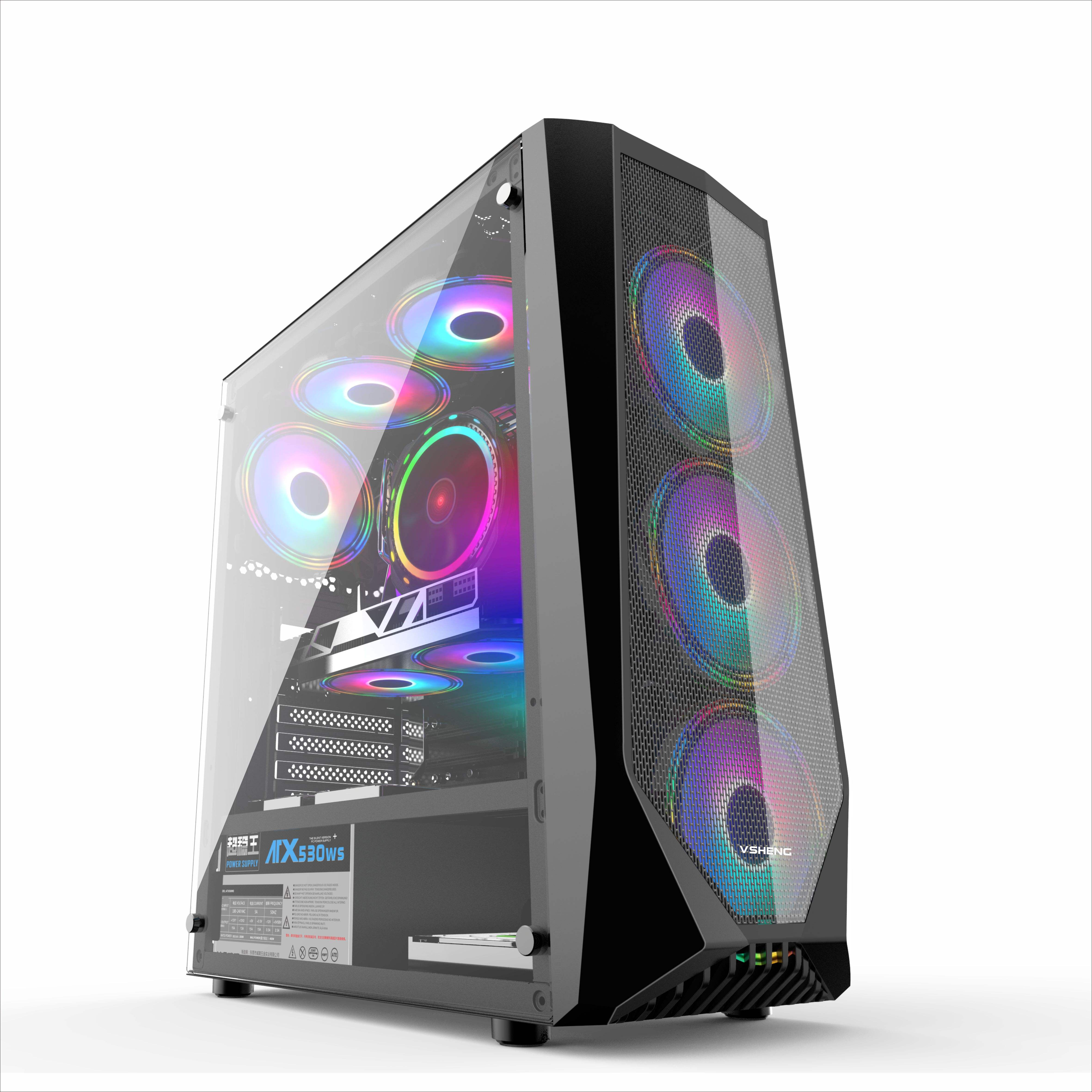 2021 Small Order rgb Gaming Aluminum Computer Case Parts High Quality Custom Made OEM Customized Steel Window Style