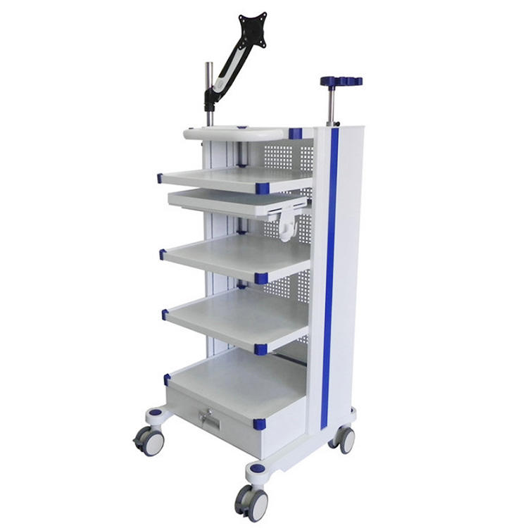 Multi-function Medical Cart Laparoscopic Trolley Integrated Cart Endoscopy