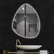 Modern round lighted led bathroom vanity mirrors