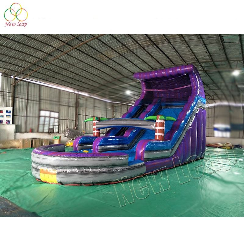 16ft purple tropical water slide party monster inflatables