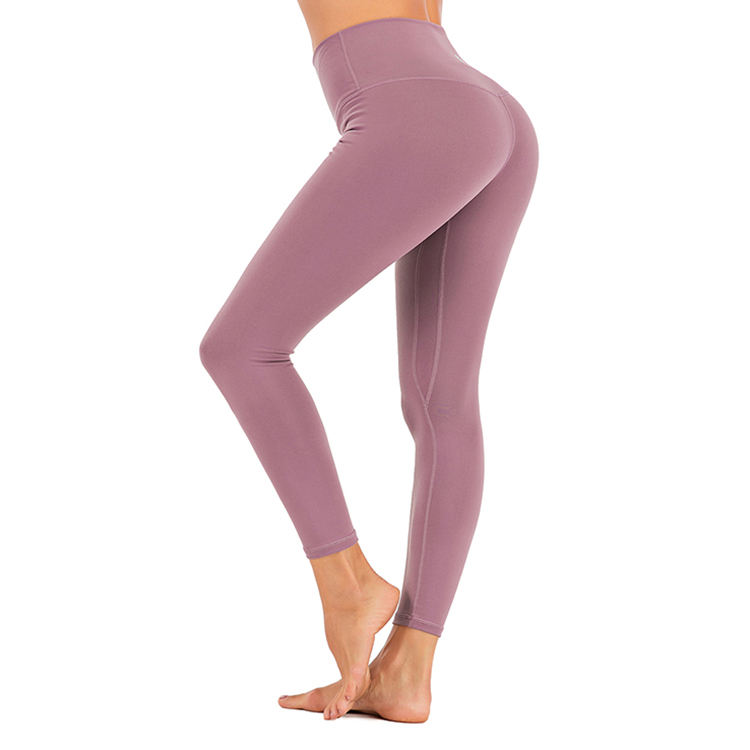 Wholesale OEM ODM Sports Soft Fit High Quality Spandex Nylon Spandex Tummy Control Nylon Leggings