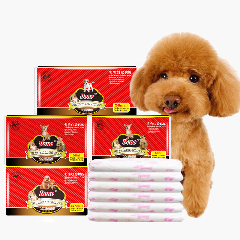 Factory 2020 new cheap dono disposable female dog diapers for pet