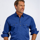 Men's Half Button 100% cotton work shirt