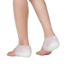 Height Increase Socks Heel Lift Gel Insoles Invisible Shoe Inserts Heel Protector