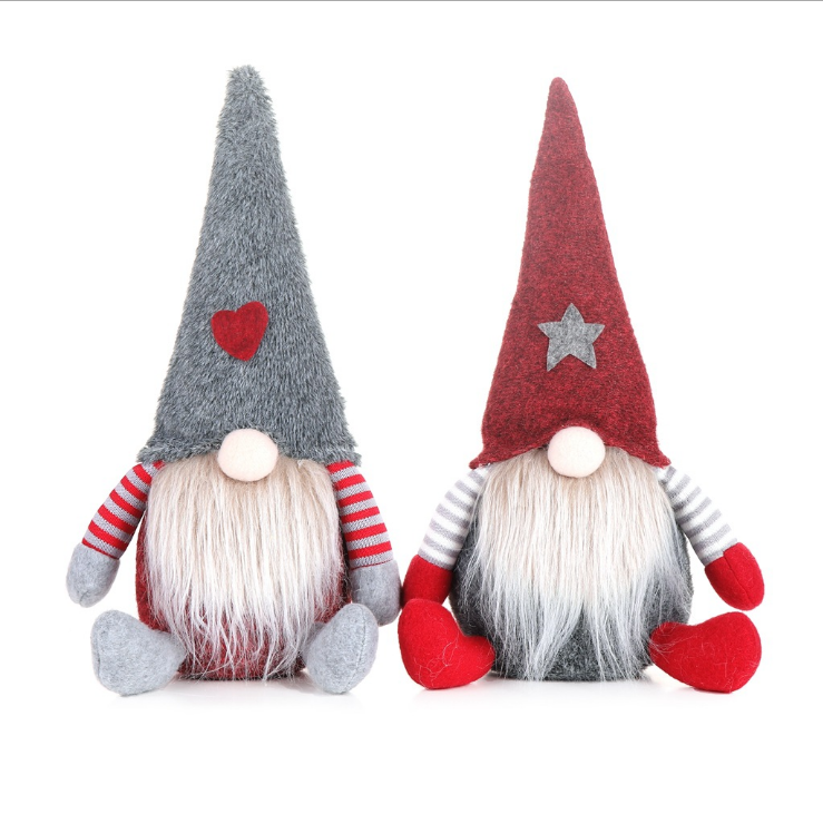 2020 Amazon Top Seller Factory Price Christmas Gnomes Fabric Gnomes Felt Gnomes for Christmas decoration