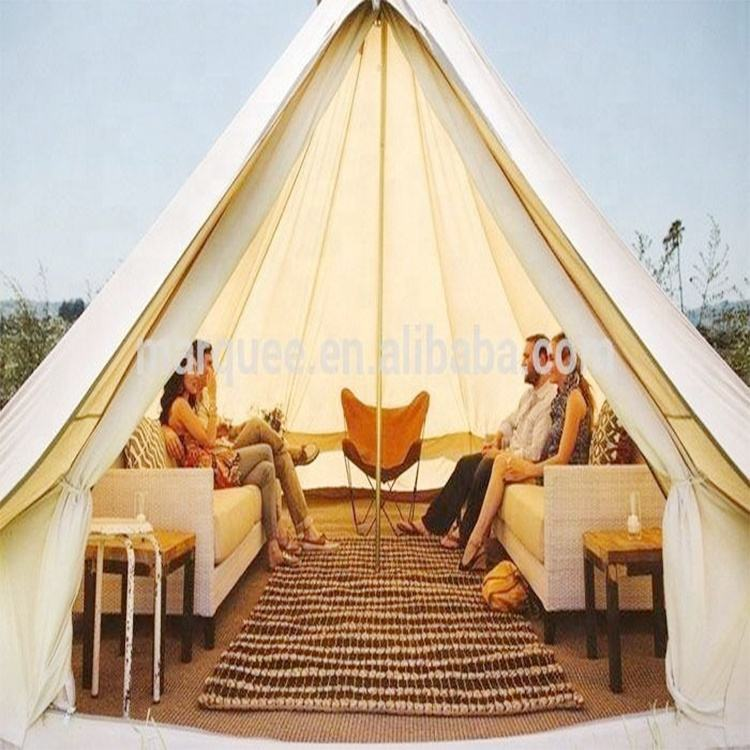 Luxury glamping and camping bell tent
