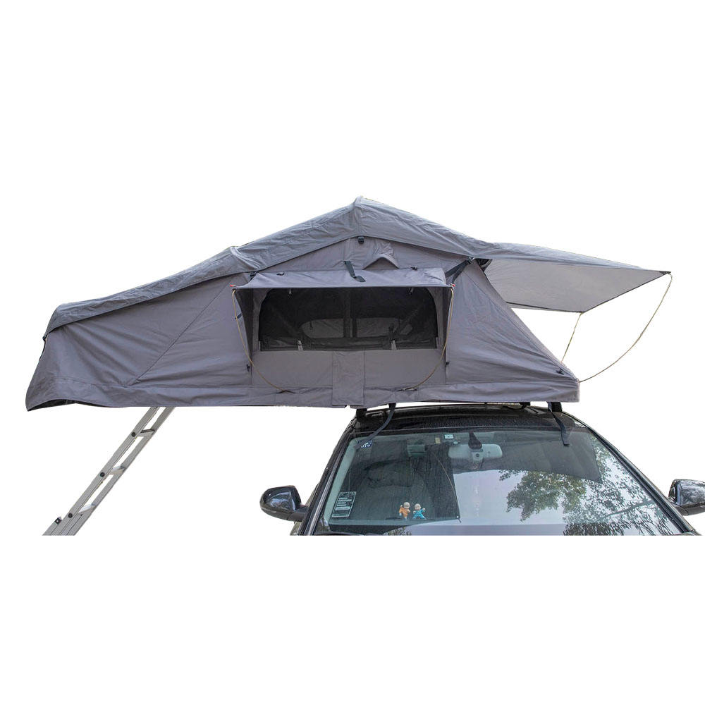 <span class=keywords><strong>Outdoor</strong></span> Familie Rooftop Tent 3-4 Persoon Aluminium Shell 4X4 Dak Tent Met Dakraam Bijlage