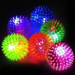 เรืองแสง LED Flash Bouncing Ball GLOW In The Dark Beach Ball ฮาโลวีน LED Bouncing Ball