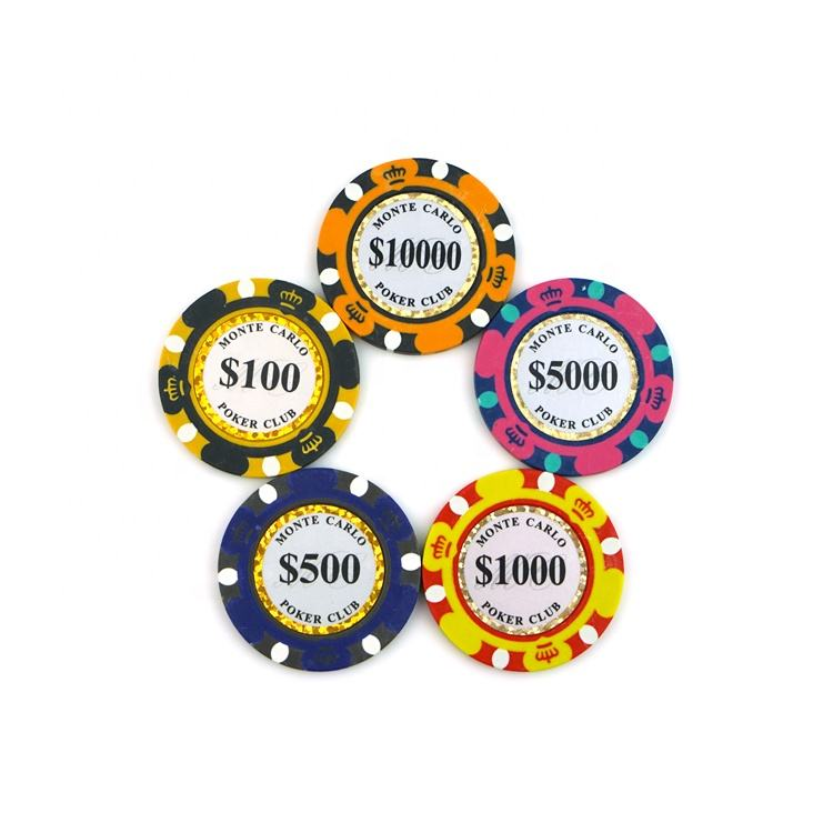 Hot Selling Style Convenient Harmless Nontoxic Custom Printed Logo Numbers Ceramic Poker Chips