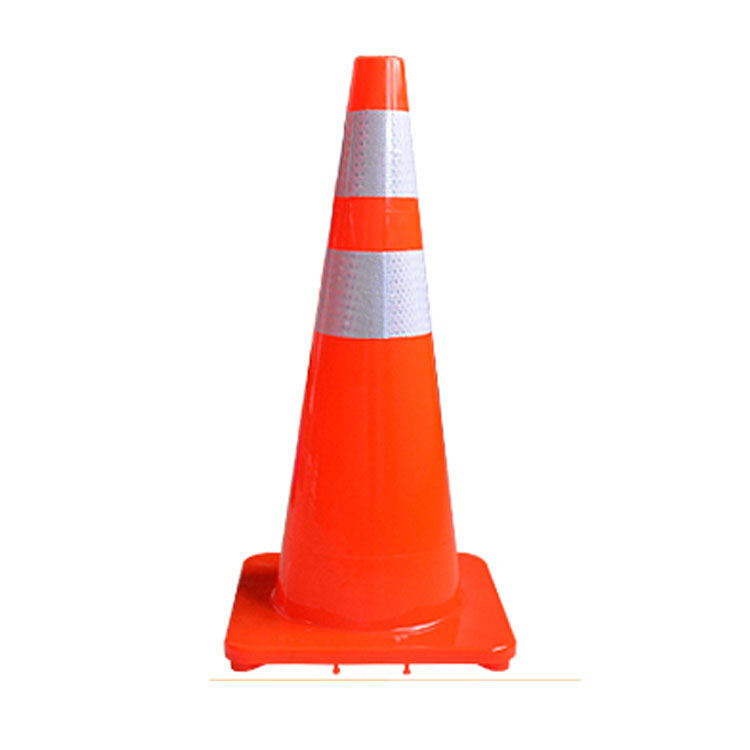 Factory direct selling 90cm reflective PE AND PVC rubber traffic cone reflective with cheap price