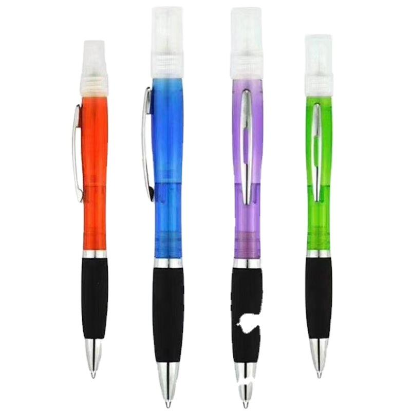 Avoid Contact Replaceable Compact And Convenient Multifunctional Spray Ballpoint Pen Alcohol Spray Ball Pen