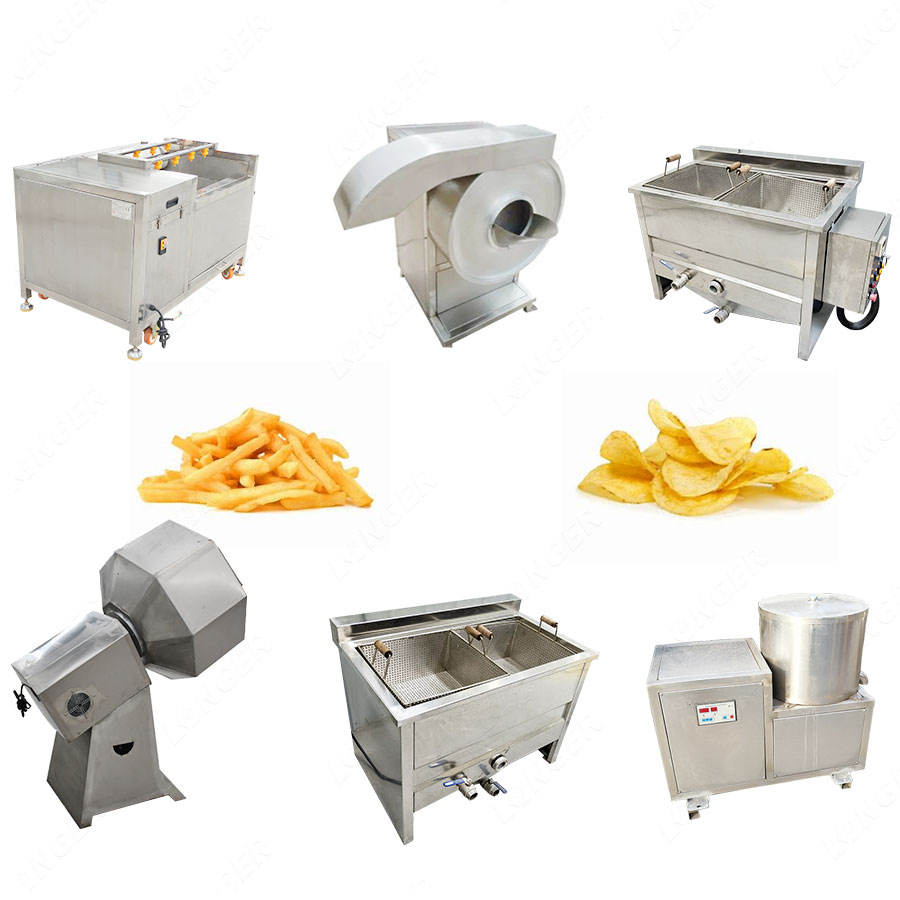Factory Price Small Scale French Fries Frozen Potato Flakes Production Line Sweet Potato Chips Making Machine