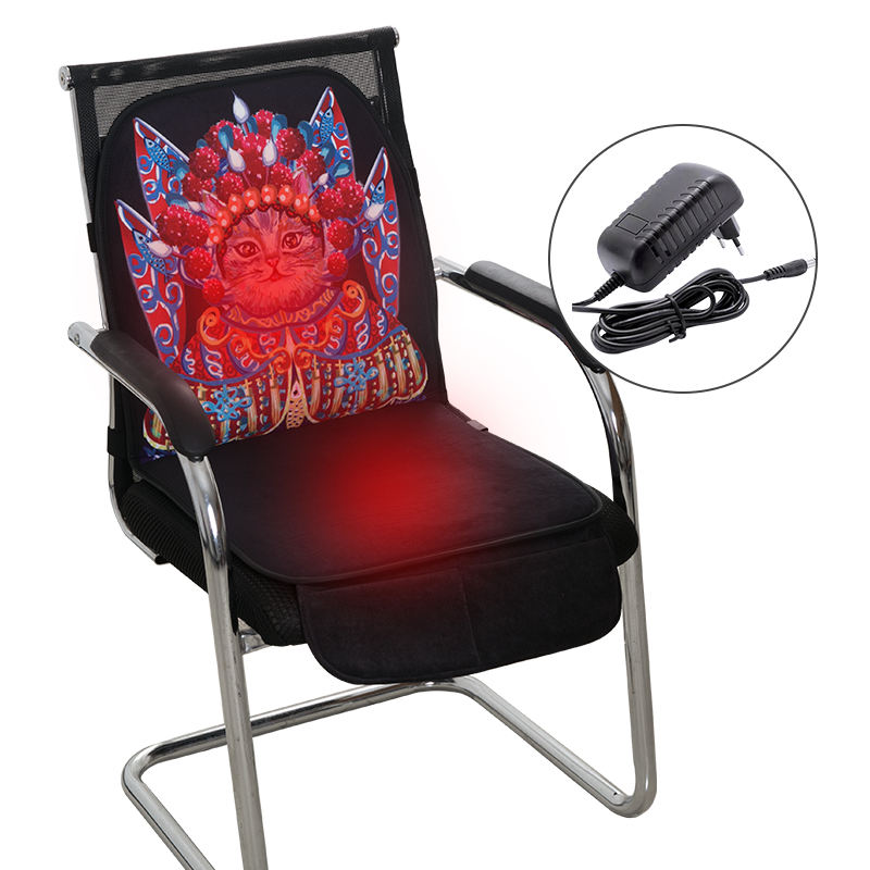 12V Electric Portable Heated Home Back Lumbar Support Office Chair Heating Seat Cushion Used In Winter For Keeping Warm