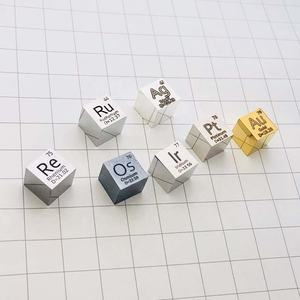 Best selling Element Cube Silver/Ruthenium/Gold/Rhenium/Osmium/Iridium/Platinum/Palladium/Rhodium Metal cube 10mm