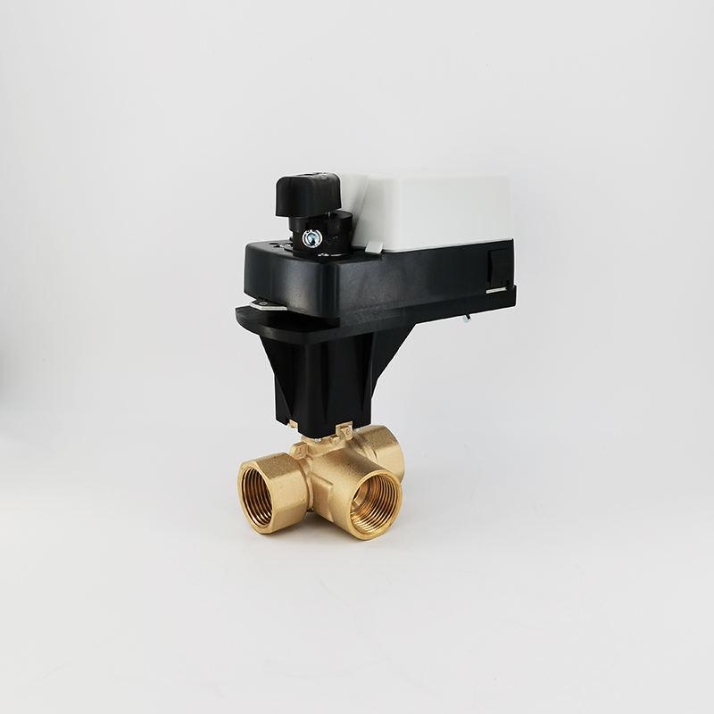 "HSH-Flo 1-1//4/"" DN32 DC12V 2 Way Motorized Ball Valve Brass Two Way CR3-01"