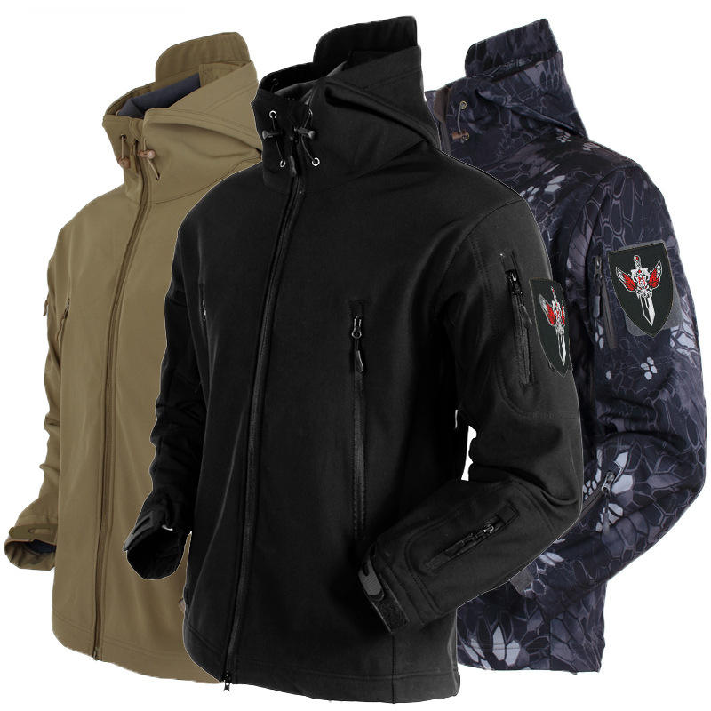 Outdoor Special Forces Sharkskin Soft Shell Charge Clothing Male Outdoor Forces Fans Tactical Charge Wind Rainproof Jacket