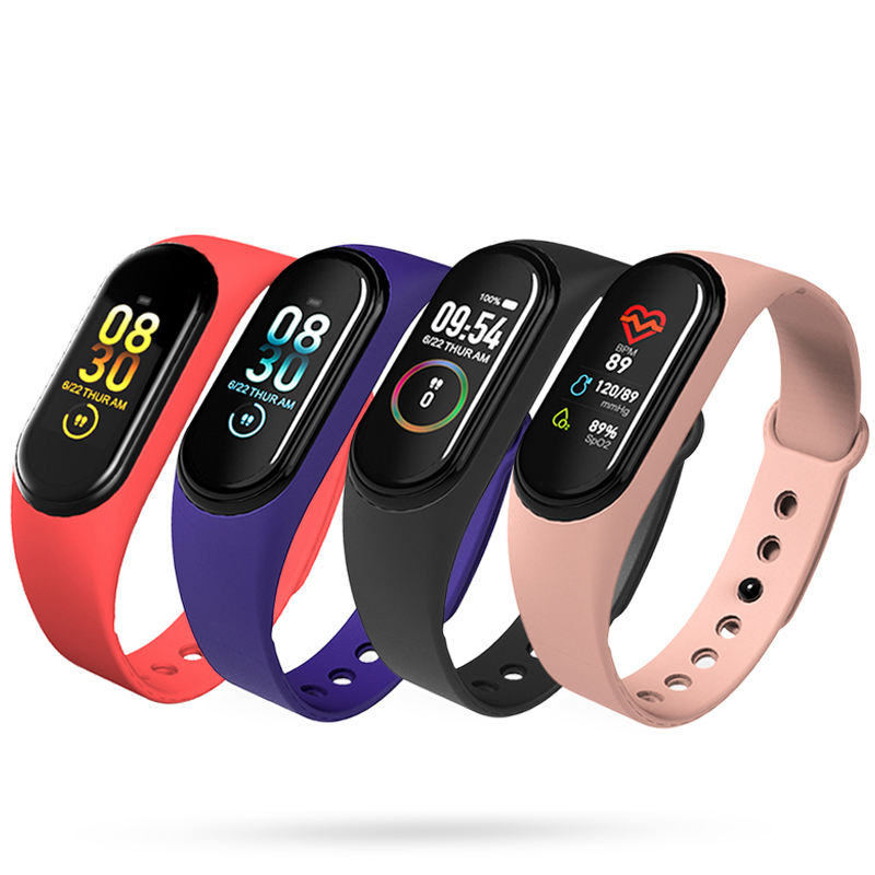 2020 Best Selling Heart Rate Ip68 Band 4 Sports Fitness Reloj Smartwatch Smartband Smart Bracelet Watch Band M4