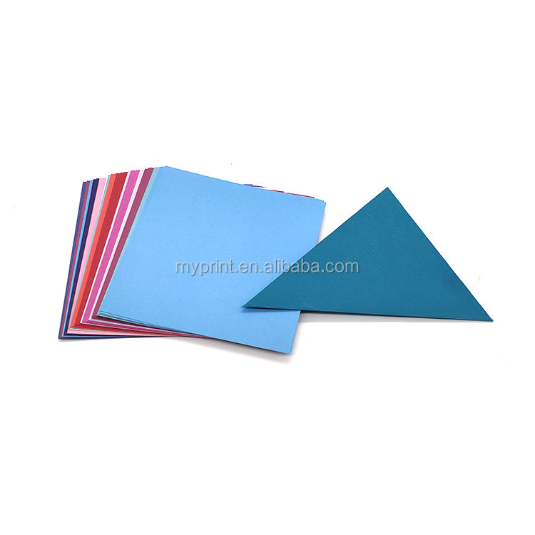 Custom design color scrapbook packs origami 8x10 cardstock paper
