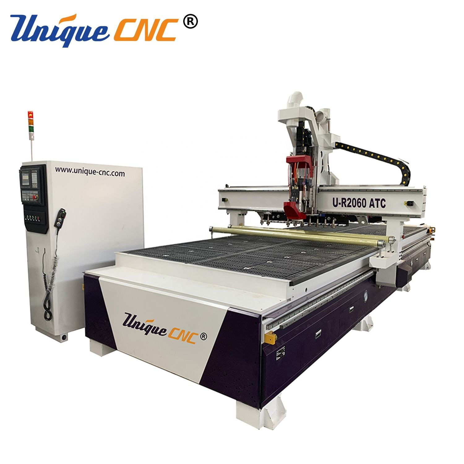 Unique CNC 2x6m 2060 wood cnc router cnc nesting cutting profile shaping machine for furniture cabinet door