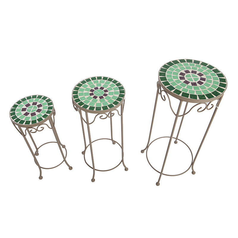 Competitive Price Modern Design Steel Round Garden Flower Stand Pot