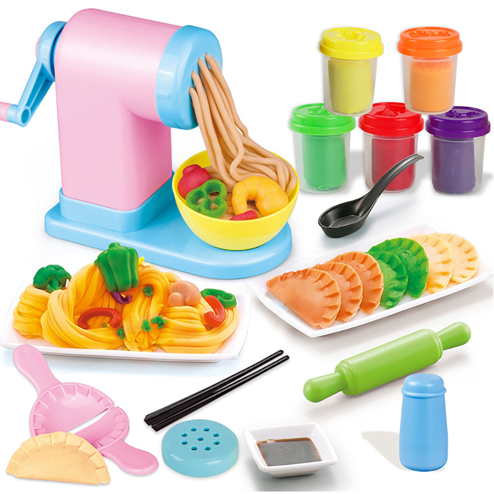 Playdough Light Color Clay Noodle Maker Cooking Boiler Plasticine Mold Set Toy For Kids
