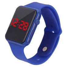 Square mens Digital watch Gift Silicon LED Watch