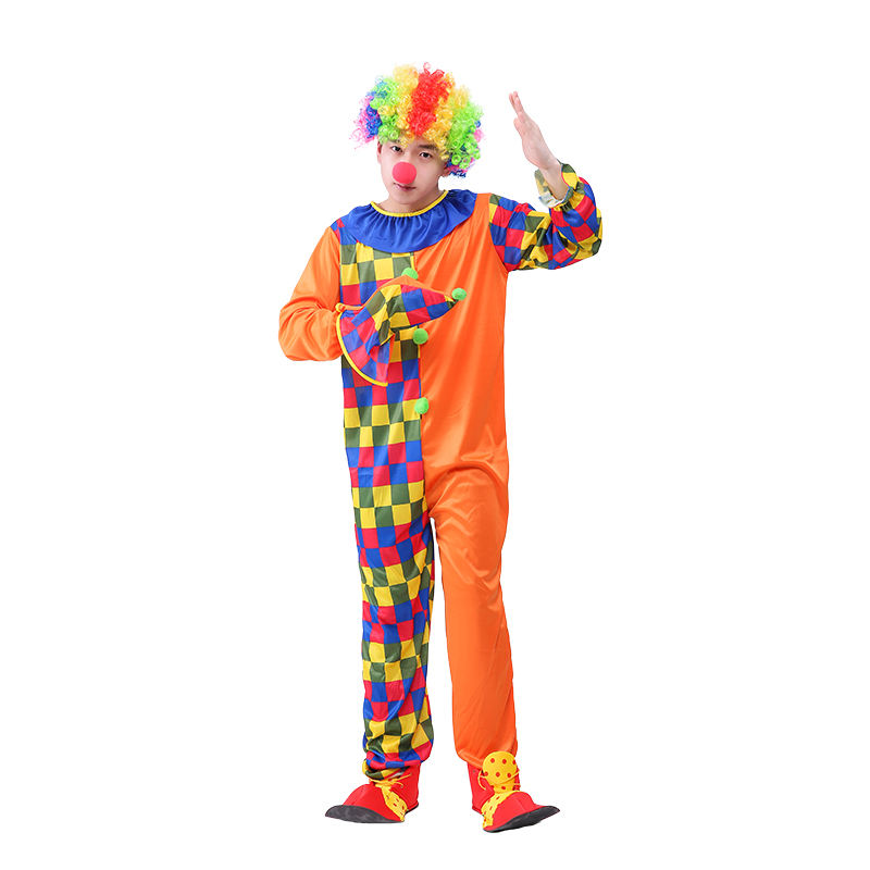Partie adulte cosplay carnaval cirque professionnel drôle costume de <span class=keywords><strong>clown</strong></span>