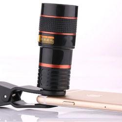 Universal Cell Phone Telescope Telephoto Camera Lens 8X Zoom Manual Focus Clip-on Camera Lens