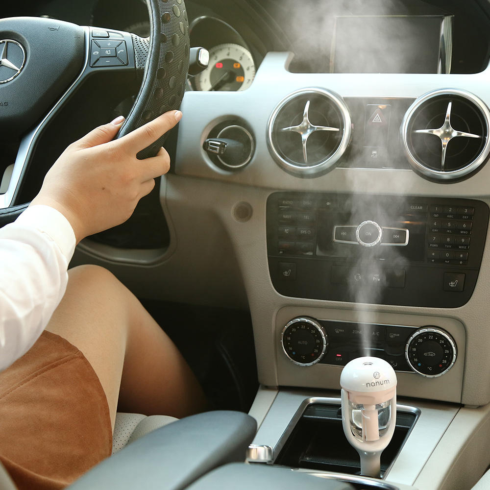Nanum usb mini ultrasonic car aroma aromatherapy freshener essential oil air purifier diffuser