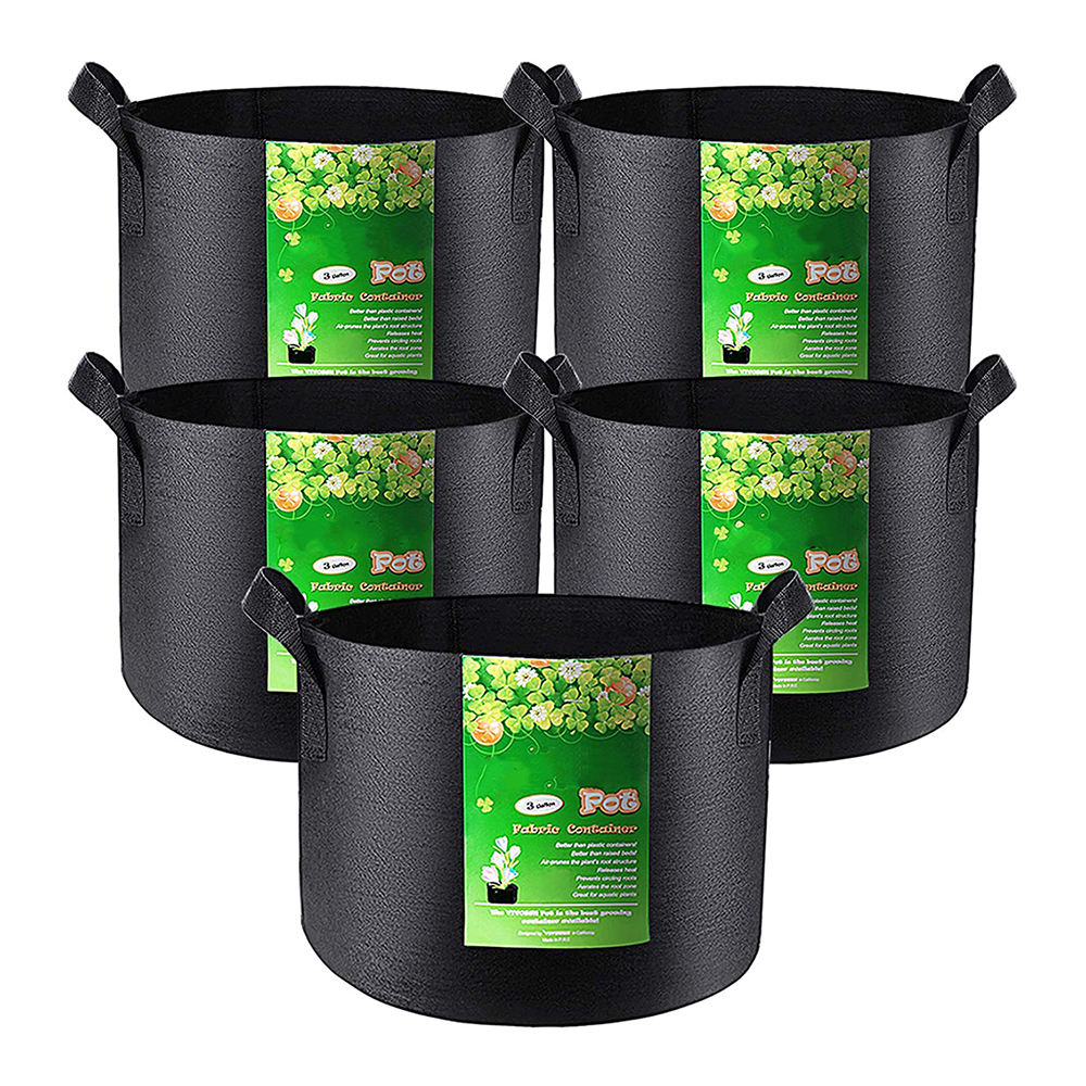 Gallon Grow Bags 1 Gallon Heavy Duty Thickened Pots Greenhouse Compost Plant Grow Container Bags With Handles