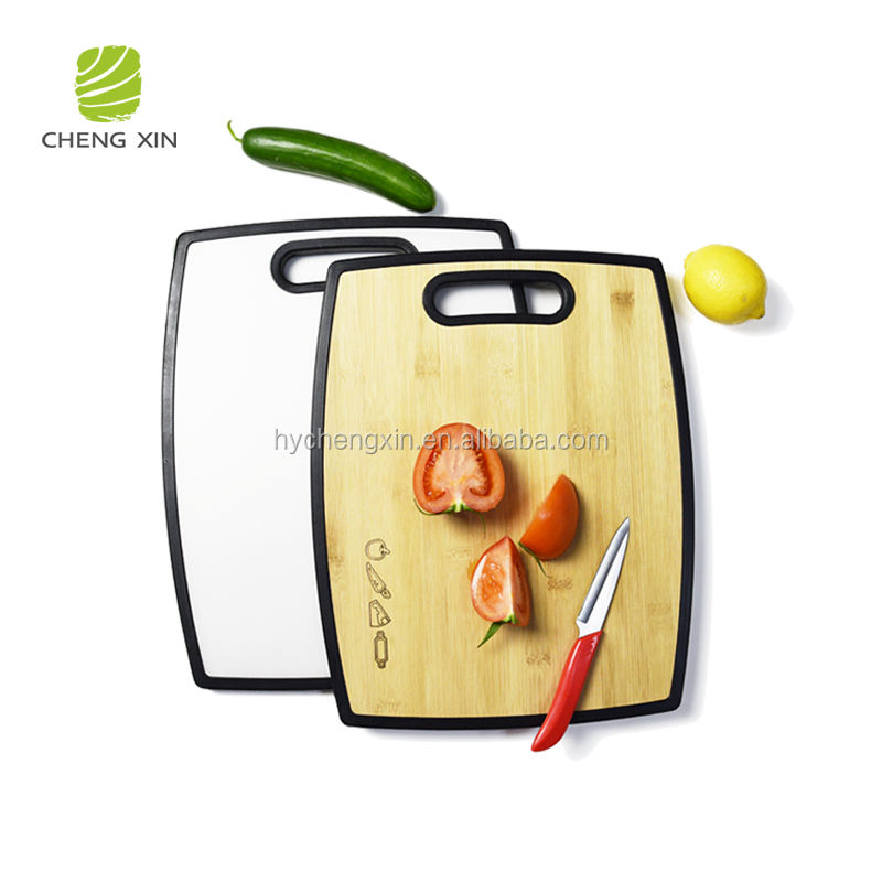 Wholesale New Design double-side use bamboo cutting chopping board