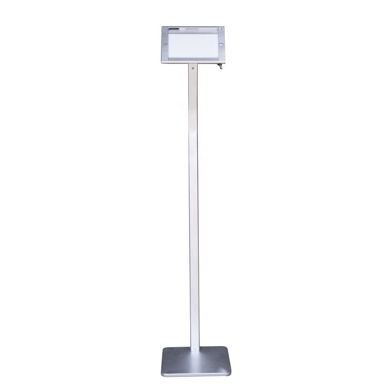 Newly silver advertising security display floor tablet pc kiosk stand holder for ipad
