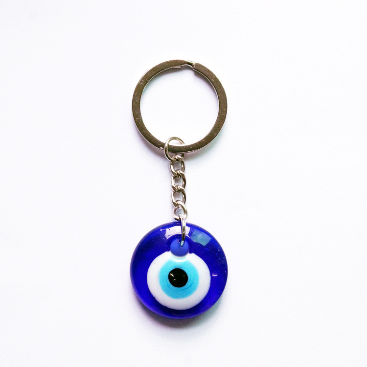 2021 Fashionable Blue Eyes Keychain Turkey Glass Key ring Creative Simple Keychain