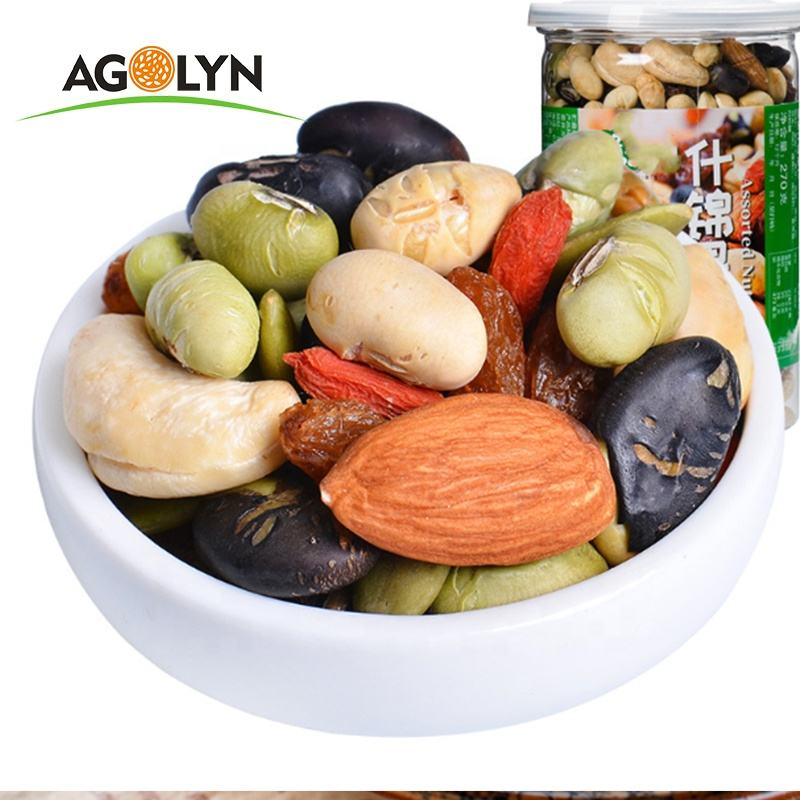 Bulk Sale Chinese Factory Cheap Salty Mixed Nuts Mixed Dried Fruits 380g*24 Bottles