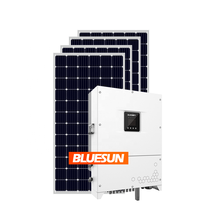 BLUESUN Grid Tie Solar Energy Systems 100KW 200KW Solar Panel System Power Station 100KW Solar Photovoltaic Kit 100 KW rooftop