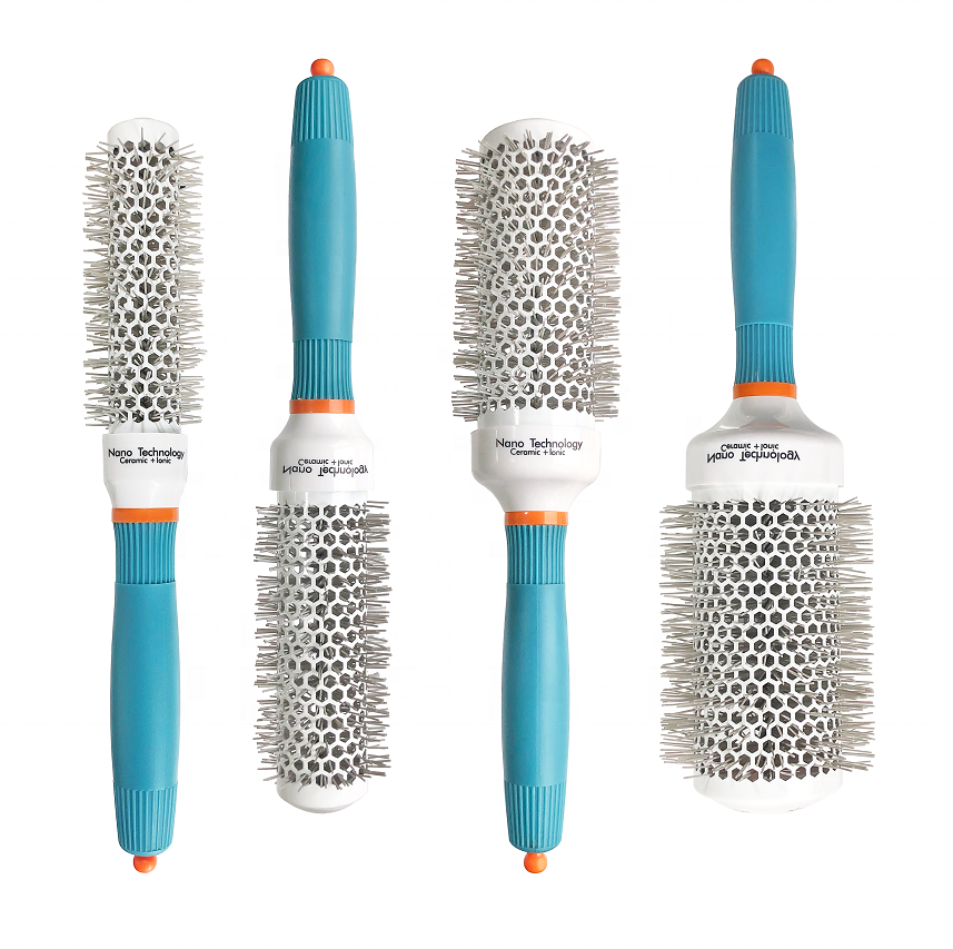 Factory Price Professional Salon Nano Ceramic Technology Ionic Barrel Rounded Blow Hair Brush